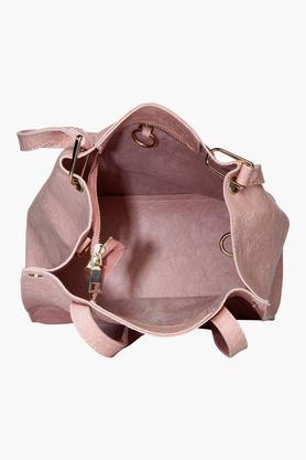 Womens Zipper Closure Tote Handbag with Sling Bag