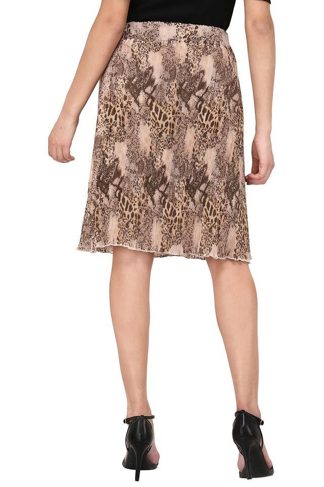 Womens Printed Knee Length Skirt