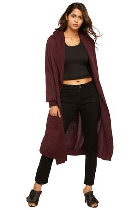 Womens Hooded Knitted Cardigan