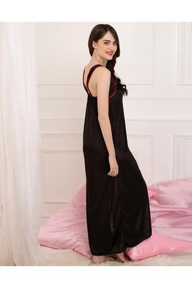 Womens Solid Night Dress and Robe set