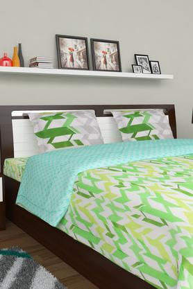 PORTICO Printed Double Bedsheet With 2 Pillow Covers - 203359120_9900