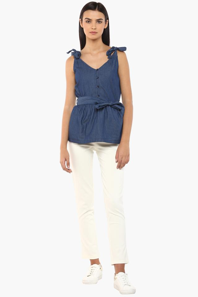 Womens Strappy Neck Assorted Top