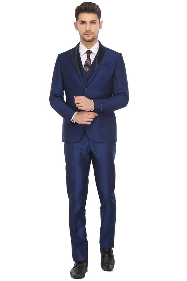 Mens Shawl Lapel Solid Suit