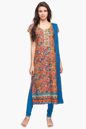 STOP Womens Round Neck Printed Churidar Suit - 203132170