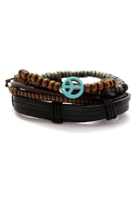Mens Multicolor Leather Bracelet
