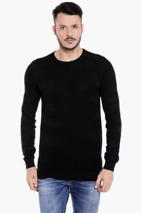 JACK AND JONES Mens Round Neck Slim Fit Printed Sweatshirt - 203148075