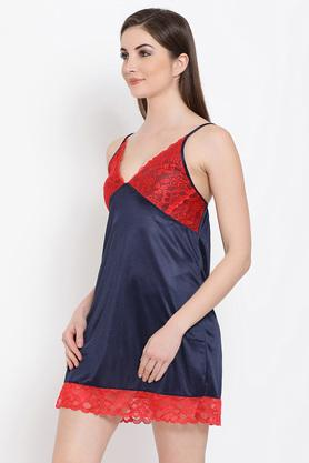 Womens Surplice Neck Solid Night Dress and Robe Set