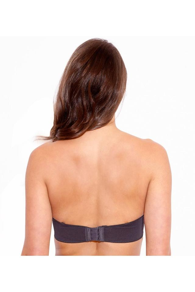 Womens Solid Padded Wired Strapless Bra