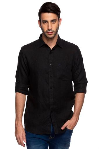 ALLEN SOLLY -  BlackCasual Shirts - Main