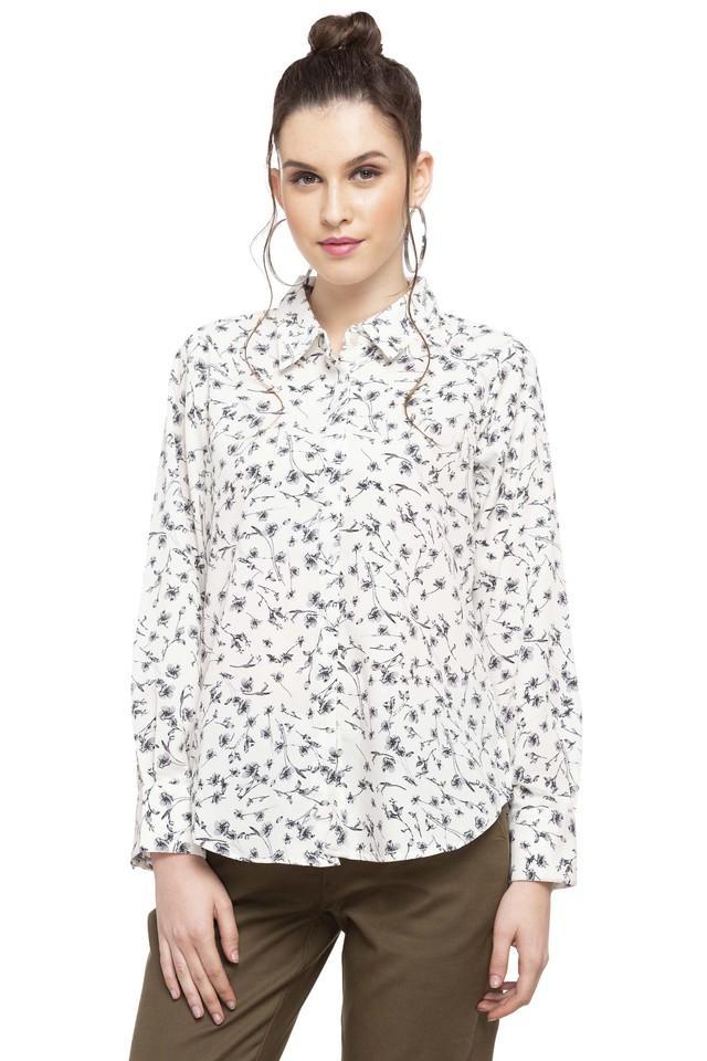 Womens Collared Printed Shirt