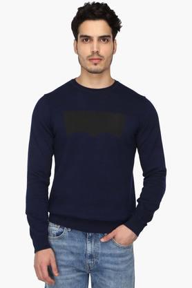 LEVISMens Round Neck Printed Sweater