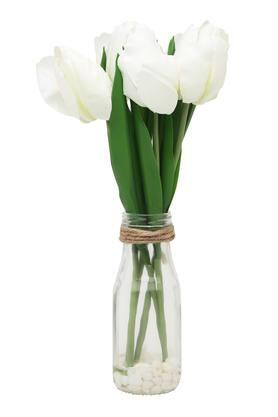 IVYRound Vase With Artificial Tulip
