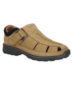 WOODLANDMens Leather Velcro Closure Sandals - 204040208_9115