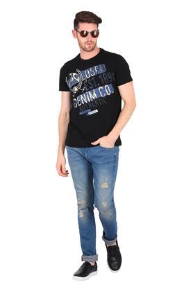 Mens 5 Pocket Distressed Jeans (Albert Fit)