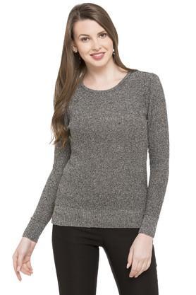 LIFEWomens Round Neck Slub Sweater