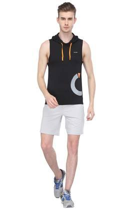 Mens Hooded Printed T-Shirt