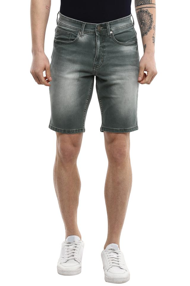 Mens 5 Pocket Mild Wash Shorts