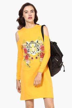Womens Graphic Print Shift Dress