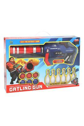 Unisex Table Tennis Toy Gun with 6 Balls and 6 Pins Set
