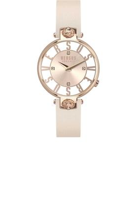 Womens Analogue Leather Watch - VSP490318