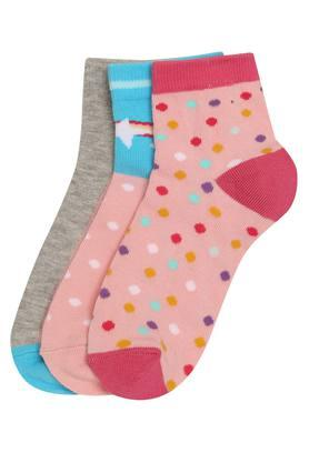 Girls Printed and Slub Socks Pack of 3