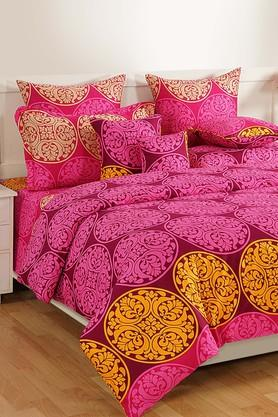 SWAYAMPrinted Double Fitted Bed Sheet With 2 Pillow Covers - 204274652_9654