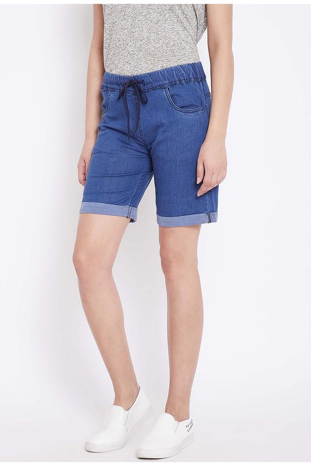 Womens 4 Pocket Rinse Wash Shorts