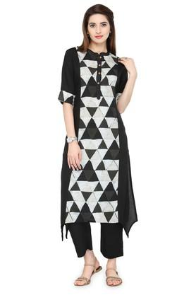 VARANGAWomen Geometric Print Kurta And Pant Set - 204516998_8931