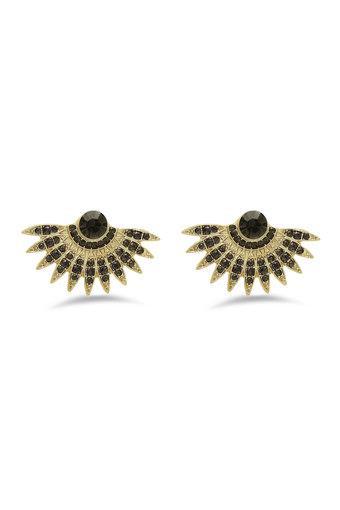 Womens Stone Studded Stud Earrings