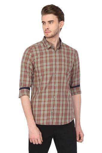 Mens Slim Fit Checked Casual Shirt