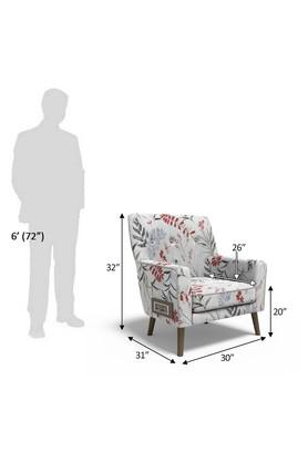 Floral Upholster Lounge Chair with 6 Amp Modular Switch