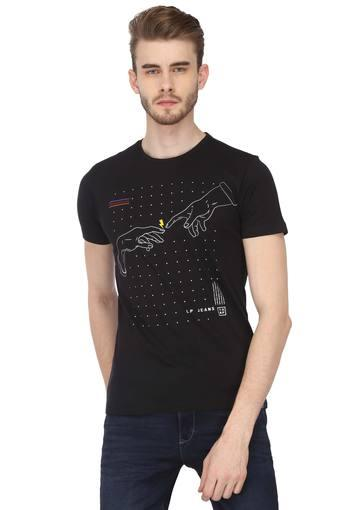 LOUIS PHILIPPE JEANS -  Dark BlueT-shirts - Main