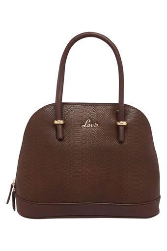 Womens Zip Closure Satchel Handbag