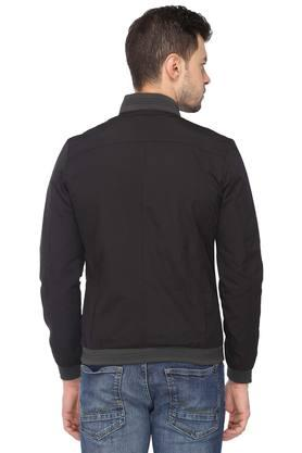 Mens Mao Collar Solid Jacket