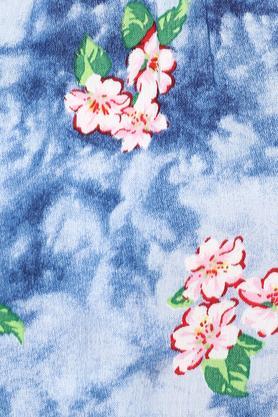 Womens Off Shoulder Neck Floral Print Top