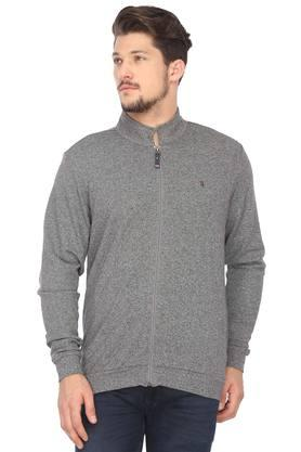LOUIS PHILIPPE SPORTSMens High Neck Slub Sweatshirt