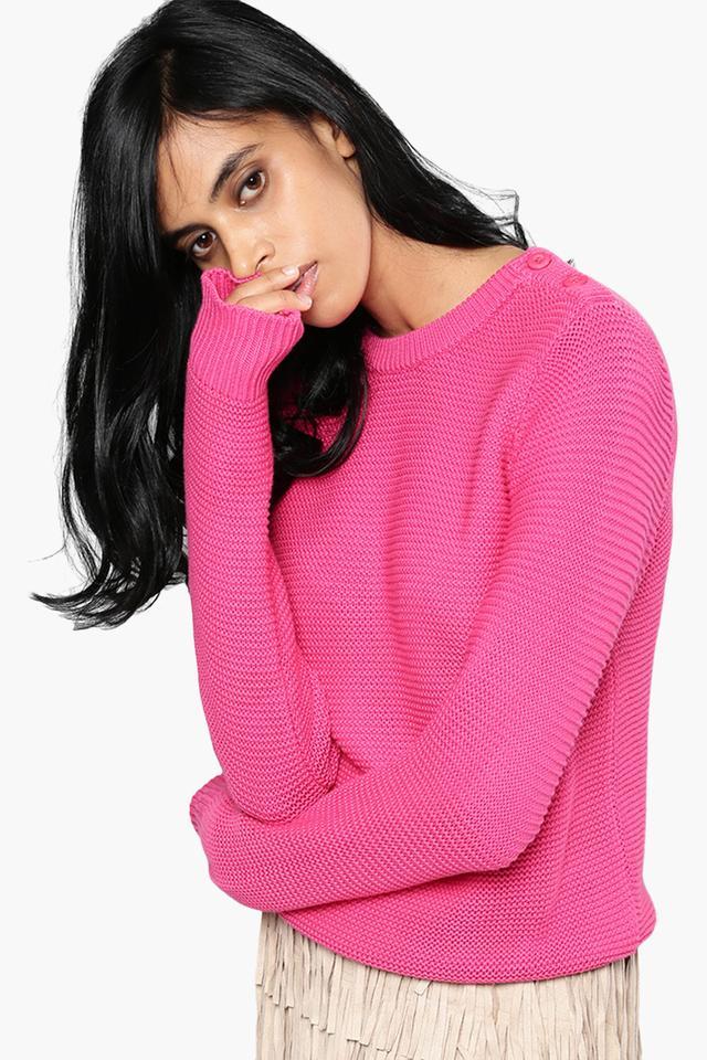 9d53de13fa Buy NUSH Womens Knitted Pattern Sweater