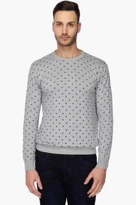 INDIAN TERRAINMens Round Neck Printed Pullover