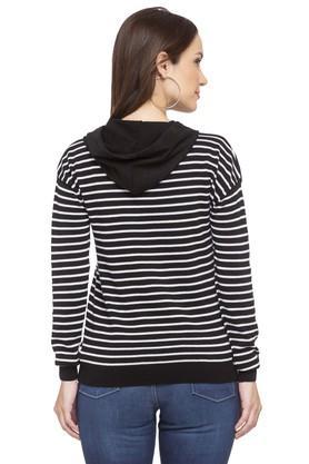 Womens Hooded Stripe Sweatshirt