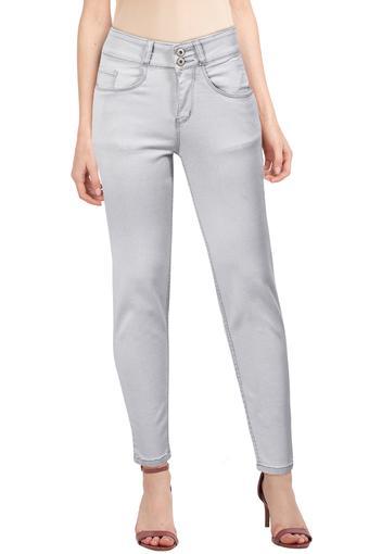 LIFE -  Grey MelangeJeans & Leggings - Main