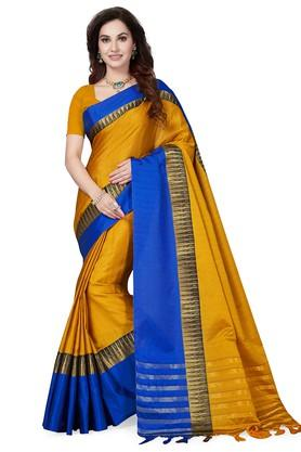 Womens Woven Saree with Blouse Piece