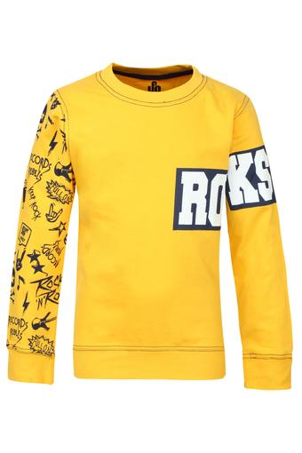 Boys Round Neck Printed Sweatshirt
