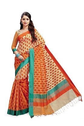 ASHIKAWomens Printed Saree With Blouse Piece - 204577029_7086