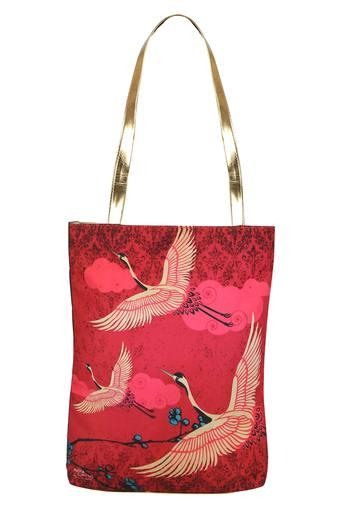 Printed Snap Closure Jhola Shopping Bag