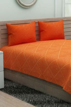 IVYPrinted Double Bedsheet With 2 Pillow Covers - 203966365_9125