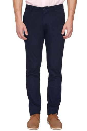 VETTORIO FRATINI -  Navy Casual Trousers - Main
