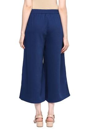 Womens Solid Culotte