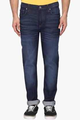 LEE Mens 5 Pocket Skinny Fit Heavy Wash Jeans (Bruce Fit)