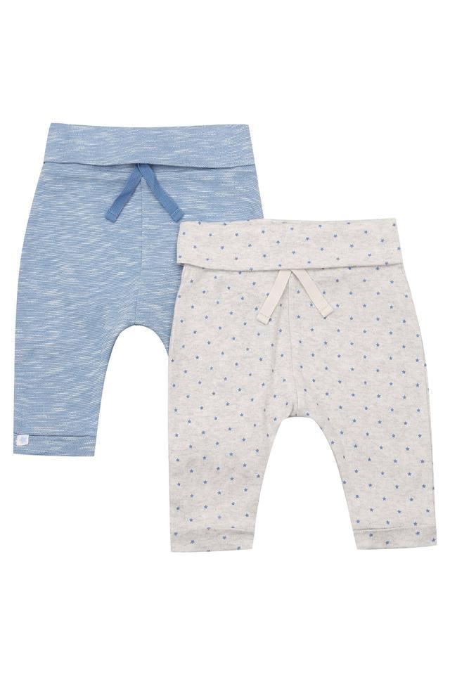 Kids Slub and Printed Pants - Pack of 2