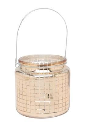 IVY Round Printed Votive With Electroplating - 204160591_9901